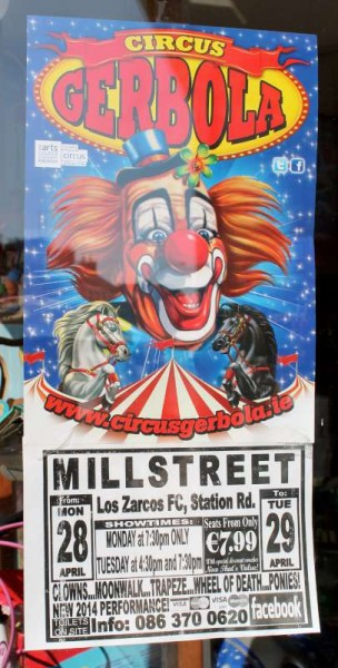 We thank Ronan Galvin for alerting us to the Circus Poster.