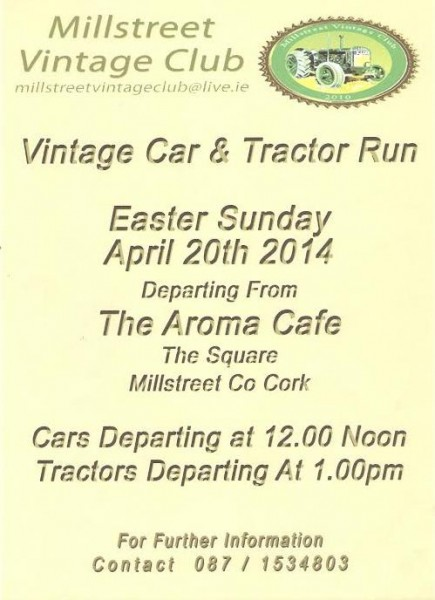 2014-04-20 Vintage Car and Tractor Run - poster