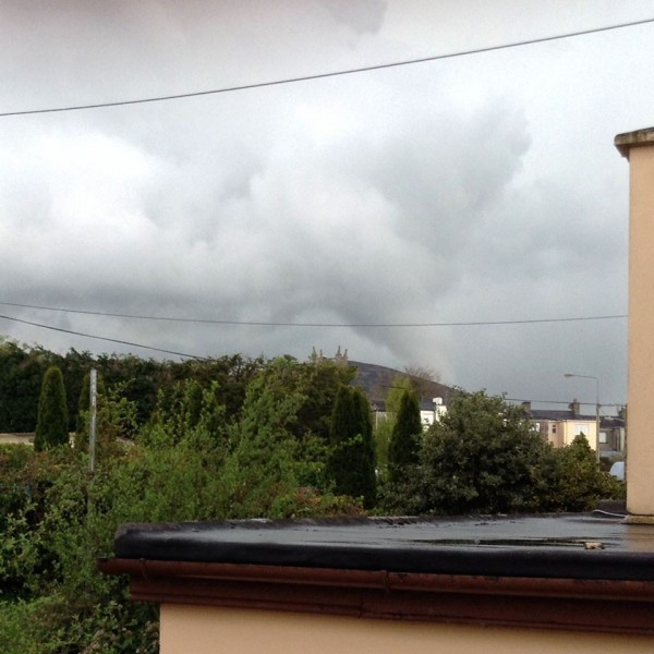 2014-04-27 Funnel Cloud over Clara - by Áine O'Neill - taken from Minor Row