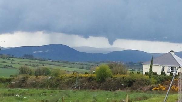 2014-04-27 Funnel Cloud over Clara - by Aidan Forrest - taken from Scartaglin