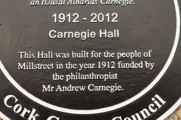 2Carnegie Hall, Millstreet - New Plaque 2014 -800