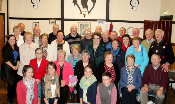 "The enthusiastic group of people from Duhallow and beyond who recently participated in two ""Round the Fireside"" radio programmes with Jimmy Reidy on c103 where the focus was on the forthcoming Bealtaine Festival which is being coordinated by Louise Burke of IRD Duhallow and her dedicated team.   The c103 programmes will be broadcast on Monday, 28th April 2014 and on Monday, 19th May at 9.50 pm.  The recordings took place in Freemount's Heritage Centre.  Click on the image to enlarge.  (S.R.)"