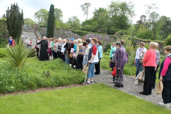 There was an enormous response to Jack Roche's Mystery Tour on Tuesday, 20th May 2014.   Here we introduce three of the images (to be followed by lots more pictures later) when the large gathering were given a splendid tour of Glenstal Abbey.  Click on the images to enlarge.  (S.R.)