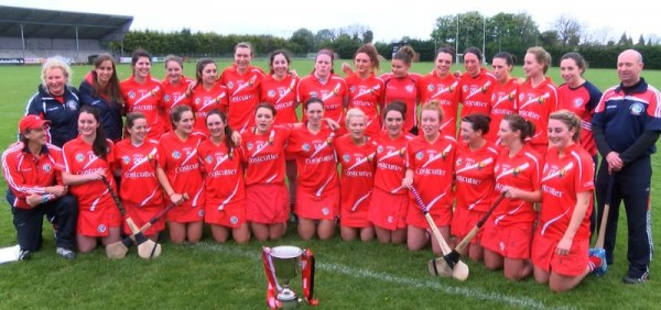 2014-05-03 The Cork Senior B Camogie Team - league 2 champions after they defeated Down in Clane