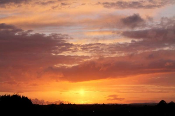 Sunset on 5th May 2014 in Millstreet