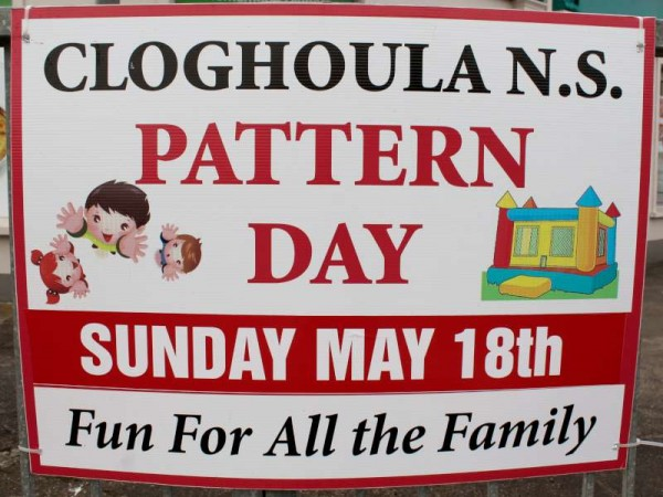 Sunday, 18th May 2014 from 1.00pm Cloghoula N.S. Pattern Day takes place in the School Grounds.   Among the many exciting and cheerful events is an opportunity to avail of a superb portrait photo at a real bargain price with Justin Black giving half of the proceeds from the day to the school funds.  A truly great day for all the Family.  Click on the Poster to enlarge.  (S.R.)