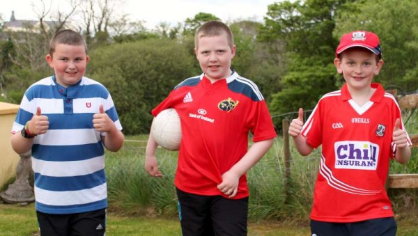 Millstreet's mighty record in the wonderful world of sports is certainly in safe hands for the the future as we witness these three young talented sportsmen practising their football skills at Mount Leader, Millstreet this evening during the splendid weather!   Click on the images to enlarge.  (S.R.)