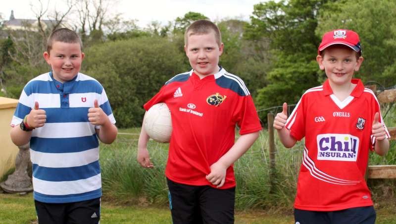Practising football skills in Millstreet 17th May 2014