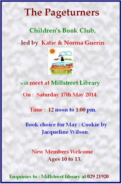 2014-05-17 Pageturners Book Club - Cookie by Jacqueline Wilson