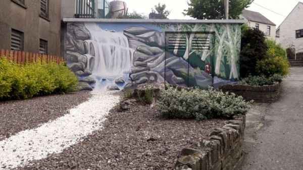 Magnificent new Mural at Mill Race 2014