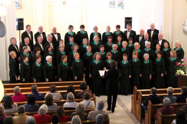 In the exquisite setting of the Church of the Little Flower at Drishane Castle, Millstreet an international celebration of Choral Music featuring The Duhallow Choral Society (pictured above) and Sweden's Christianstad's Motet Choir (below) took place on Friday evening, 2nd May 2014.  Click on the images to enlarge. (S.R.)