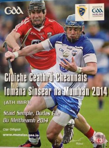 2014-06-08 Front Cover of the Cork v Waterford match programme - #6 Mark Ellis