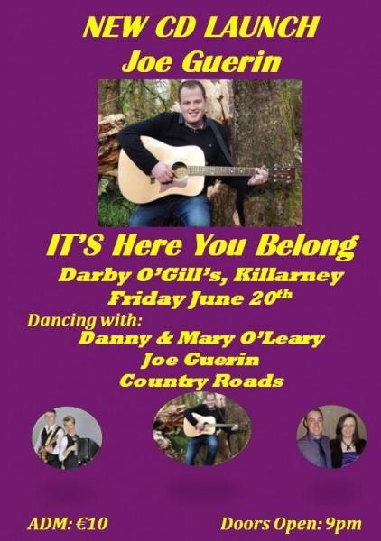 2014-06-20 Joe Guerin's new CD - It's where you belong - launch night poster