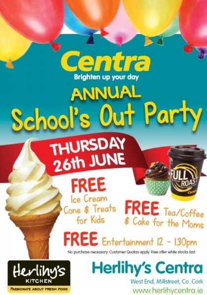 2014-06-26 Centra Annual School's Out Party - poster