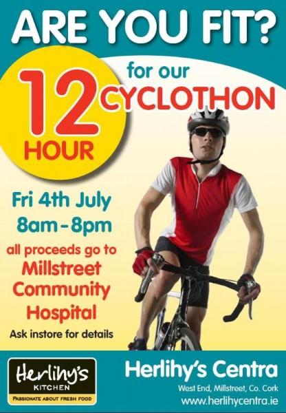 2014-07-04 Centra 12 Hour Cyclothon - poster
