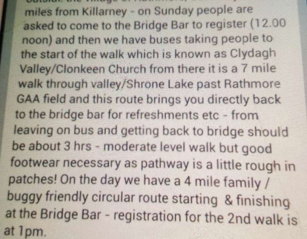 Charity Walk 29th June 2014