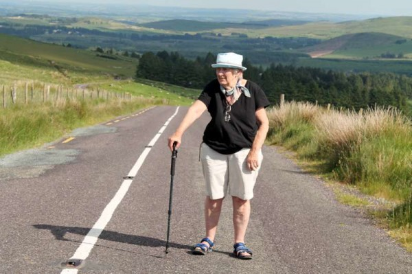 "Mary write a superb blog which is read worldwide - more about this most interesting aspect of Mary's inspirational approach to life later.  Here we note how impressed she was by the panoramic scenery on her way to Rylane on the Butter Road.   She met a host of marvellous people along her journey including Tom Goggin who presented her with an excellent book on ""Mahon's Rock"".  Mary certainly intends to return on another occasion.   Friday provided perfect weather for walking.  (S.R.)"