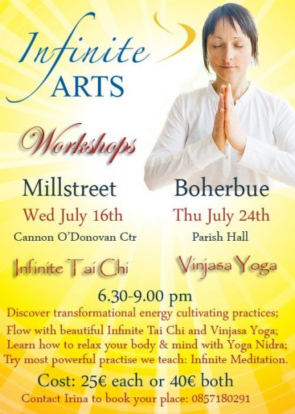 2014-07-11 Infinite Arts - Tai Chi & Yoga - poster