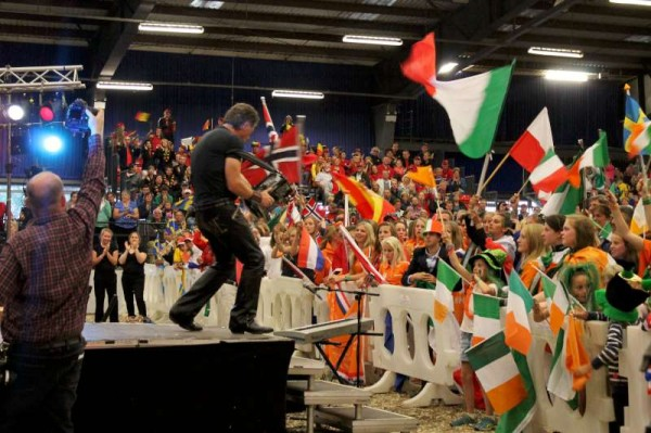 The renowned Liam O'Connor with his magnificent Group of musicians, dancers and singers hugely impressed the international audience.