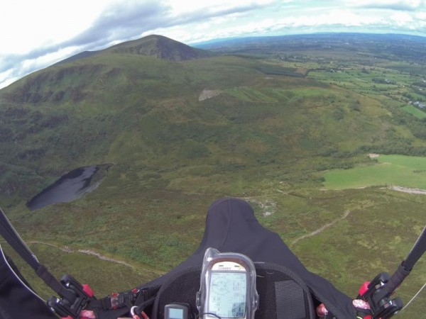 2014-07-26 Millstreet from above in paragliders 64 kippagh lake