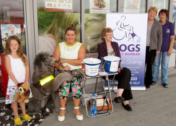 "There was a wonderfully generous response to the annual collection of ""Dogs for the Disabled"" outside O'Keeffe's Supervalu in Millstreet today ..15th August 2014.   Full information on the superb work of this voluntary organisation is available on www.dogsfordisabled.ie . Click on the image to enlarge.  (S.R.)"