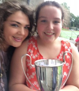 2014-08-16 Maggie Moynihan won the U12 Singing at Fleadh Cheoil na hÉireann in Sligo - with her tutor Annmarie O'Riordan