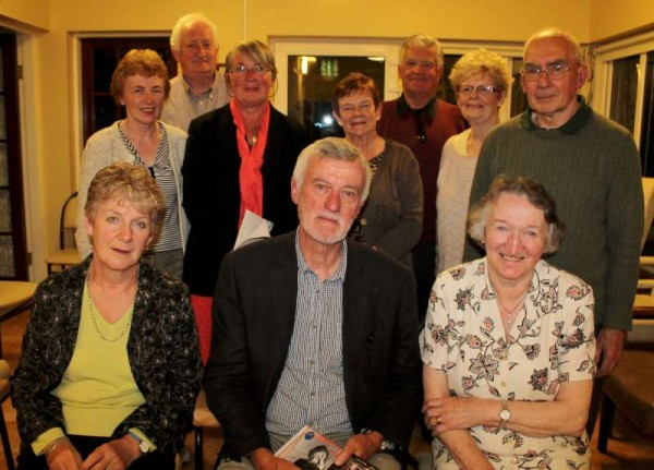 On Friday, 22nd August 2014 at Millstreet Day Care Centre, Clara Road -Bernard O'Donoghue (seated) of Cullen and Oxford delighted the large audience at the beginning of Millstreet Gramophone Circle's new season of musical presentations.  It was most enjoyable listening to Bernard's reason for his twenty choices and receiving such fascinating backgrounds to the various pieces.  Seated also (from left) Heather - Bernard's wife and Margaret McCarron - Bernard's sister.  Also included are some of the large attendance.   Maurice Linehan will be the Guest Presenter on Friday, 19th September.  Click on the image to enlarge.  (S.R.)
