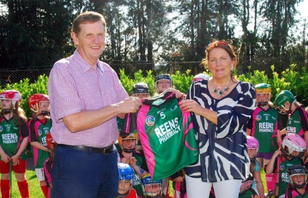 2014-08-23 Frank Reen with Bridget Buckley, chairperson of Millstreet Camogie.-800