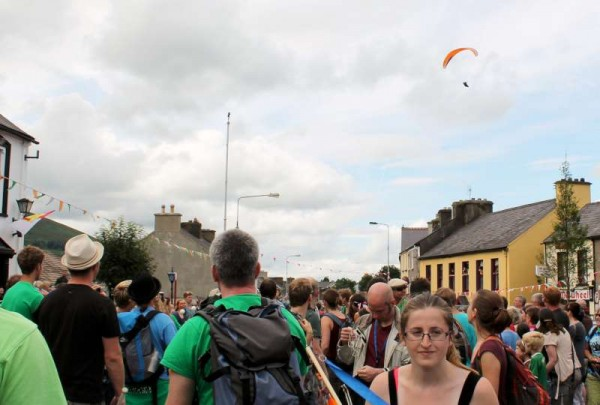 3Paragliding over EJC2014 Parade in Millstreet on 26th July -800