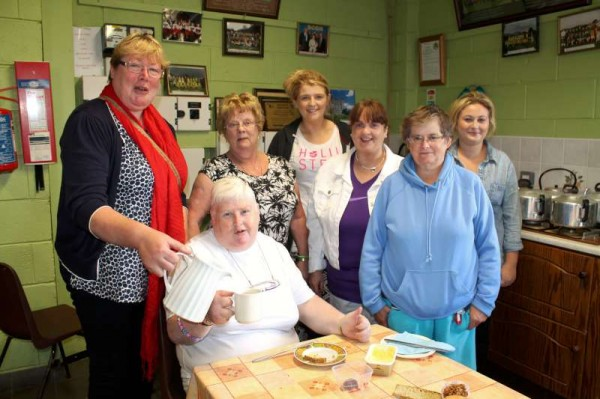 Patricia Guerin (seated) with some of her wonderfully dedicated Team coordinated a very successful Coffee Morning at Millstreet GAA Community Hall this Tuesday morning.   Click on the images to enlarge.  (S.R.)