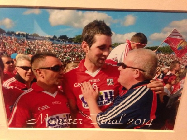 2014-07 After Cork's Munster Hurling Final win - Neily McSweeney, Mark Ellis and Connie Hickey