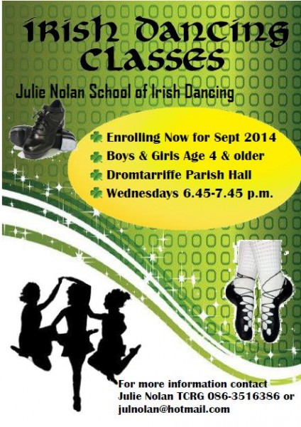 2014-09-04 Julie Noonan School of Irish Dancing - advert