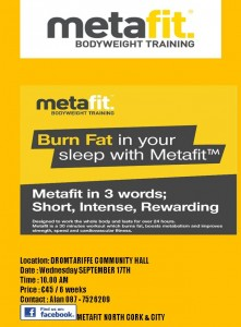 2014-09-04 Metafit morning - poster