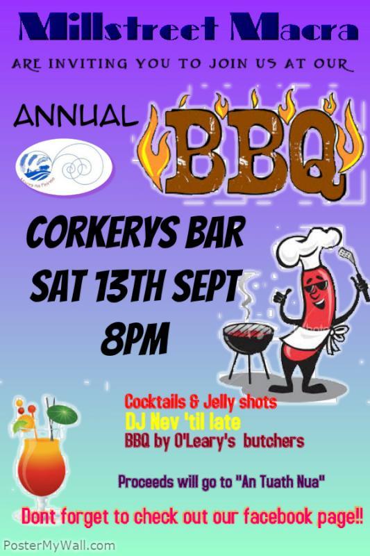2014-09-05 Millstreet Macra annual BBQ - poster
