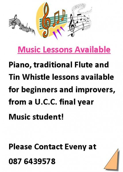2014-09-09 Music lessons with Eveny - poster
