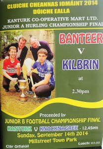 2014-09-14 Duhallow Junior Hurling Final Banteer v Kilbrin - cover of the match programme
