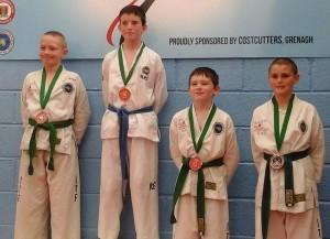 2014-09-14 TKD Championships in Grenagh - Jushua O'Sullivan (left)