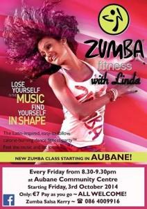 2014-09-22 Zumba in Aubane - poster
