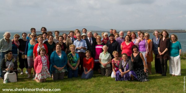 """Many Millstreet people (including great singers and musicians) travelled to Sherkin Island on 13th Sept. 2014 for the launch of Sherkin North Shore by the Brennan Brothers.  Watch out for the special """"At Your Service"""" television programme in the New Year.  Click on the images to enlarge.  (S.R.)"""
