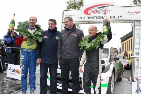 Winner celebrate at The Square at the conlcusion of a superb weekend of excellent motor rallying in Millstreet.  Here we share te first part of our Sunday coverage attempting to project the splendid atmosphere of the prestigious event.  Click on the images to enlarge.  (S.R.)