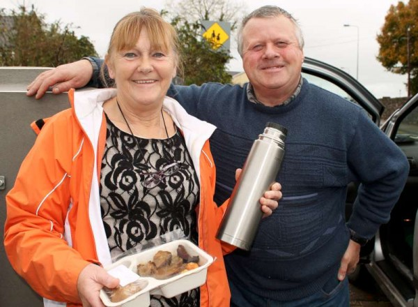 "Breeda Pigott and Edward Casey pictured providing the hugely important service from Millstreet Day Care Centre of ""Meals on Wheels"".  Over the past six years Breeda has been such a wonderfully dedicated, cheerful and consistently helpful member of the inspiring team.  Sadly Breeda's official time on the excellent scheme ended on this Thursday, 30th Nov. 2014.   Sincere congratulations to Breeda on the magnificent contribution she has made to All at the Centre over the past six years.   Click on the images to enlarge.  (S.R.)"