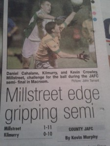 2014-10-06 Evening Echo - Millstreet Kilmurray - Kevin Crowley