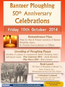 2014-10-10 Banteer Ploughing 50th Anniversary - poster