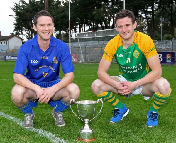2014-10-18 Millstreet Captain Michael Vaughan and the St.Finbarrs Captain who will compete for the Cork Junior Football Title next Saturday