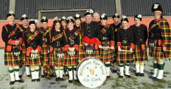 2014-10-19 Mllstreet Pipe Band who played at the last County Senior Football Final before it is redeveloped