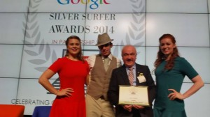 2014-10-20 Seán Radley wins the Hobbies on the Net Award at the Silver Surfer Awards at Google Headquarters in Dublin - photo by Hannelie