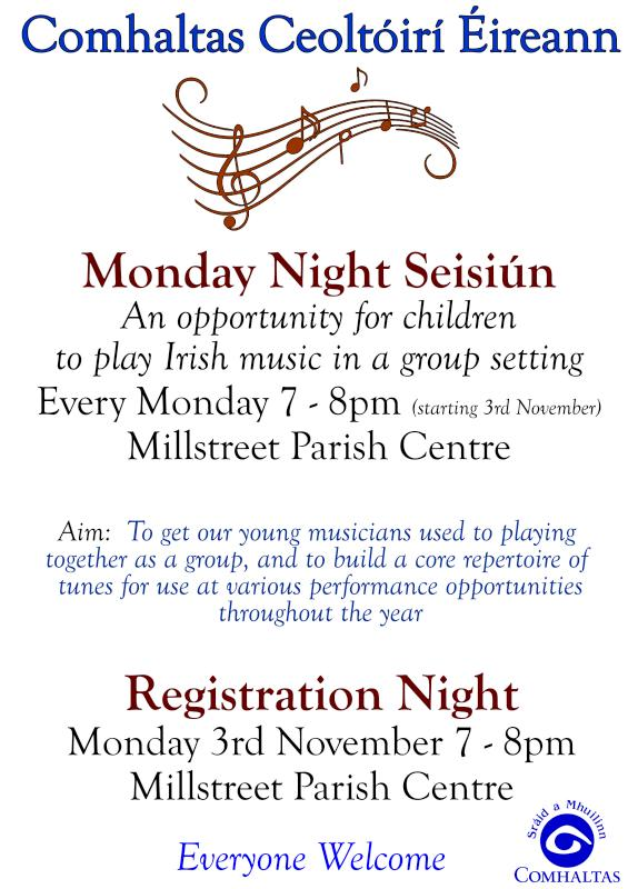 2014-10-23 Comhaltas Monday Night Seisiun - poster