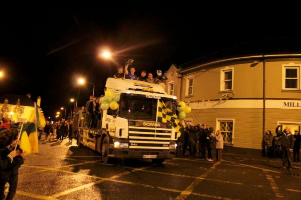 Victory Parade arrives at the Square, Millstreet on Saturday night.