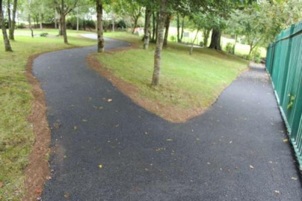 Newly tarmacadam walkway