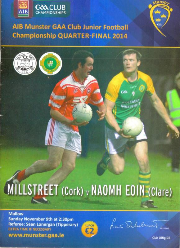 2014-11-09 Munster Quarter Final - Match Programme - cover-800
